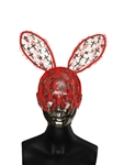 SOLDIER OF FORTUNE RED LACE GM CROSS BUNNY EARS
