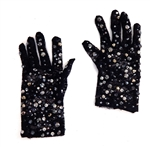 BLACK CAVIAR SHORTIE GLOVES