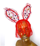 DIRTY CARNIVAL RED BUNNY EARS