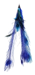 BLUE FEATHER EARRING