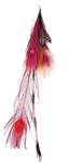 PINK TIGER FEATHER EARRING