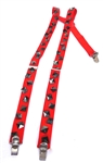 RED STUD SUSPENDERS