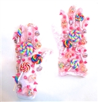 CANDY CRUSH PINK SHORTIE GLOVES