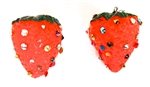 FRUIT PUNCH STRAWBERRIES EARRINGS