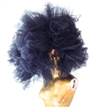 BLACK SWAIN TULLE HEADBAND