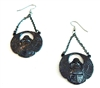 WALK LIKE AN EGYPTIAN SCARAB EARRINGS