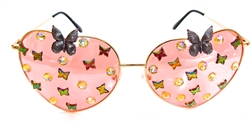 FAIRY REBEL PEACH EMPEROR RANSOM BUTTERFLY JUMBO HEART GLASSSES
