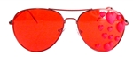 HEART OF GLASS RED HEART AVIATOR GLASSES