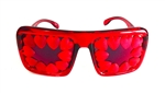 HEART OF GLASS RED HEART HONDO GLASSES