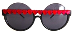 HEART OF GLASS RED HEART PEEKABOO GLASSES