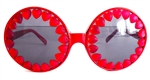 HEART OF GLASS RED HEART RODEO QUEEN GLASSES