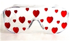 HEART OF GLASS RED HEART SPY GLASSES