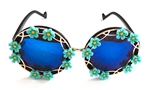 MORNING GLORY BLUE BIRDCAGE GLASSES