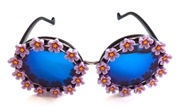 MORNING GLORY PURPLE BIRDCAGE GLASSES #2