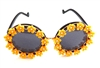 MORNING GLORY YELLOW BIRDCAGE GLASSES #2