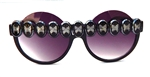 BLACK BUTTERFLY PEEKABOO GLASSES