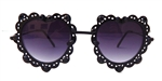 LOVELACE MIDNIGHT HEART GLASSES