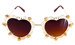 LOVELACE SUNSHINE HEART GLASSES