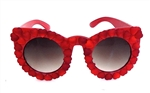 HEART OF GLASS RED HEART SCOTTIE SUNGLASSES