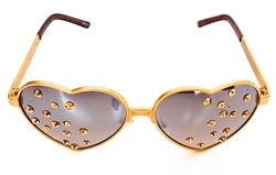 BIANCA GOLD BLOODED HEART GLASSES