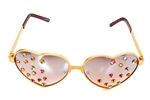 BIANCA HUCKLEBERRY HEART GLASSES