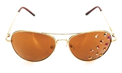 HUCKLEBERRY GOLD AVIATORS