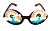 FANTASIA PASTEL RAINBOW WILDE CATERPILLAR GLASSES
