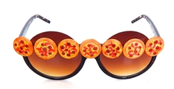 PIZZA PARTY WORKS PIE PEEKABOO GLASSES