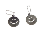 HEAVY METAL GUN METAL HAPPY EARRINGS