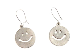 HEAVY METAL SILVER HAPPY EARRINGS