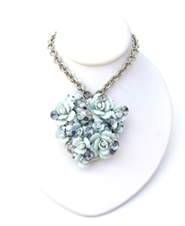 LADY SINGS THE BLUES LARGE HEART NECKLACE