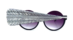BIRDS OF PREY SILVER GRAND FEATHER PEEKABOO GLASSES