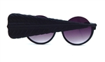 BIRDS OF PREY FLAT BLACK GRAND FEATHER PEEKABOO GLASSES