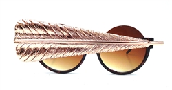 BIRDS OF PREY ROSE GOLD GRAND FEATHER PEEKABOO GLASSES