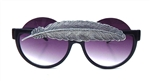 BIRDS OF PREY SILVER LITTLE FEATHER PEEKABOO GLASSES