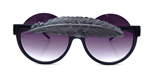 BIRDS OF PREY GUN METAL LITTLE FEATHER PEEKABOO GLASSES