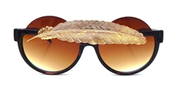 BIRDS OF PREY GOLD LITTLE FEATHER PEEKABOO GLASSES