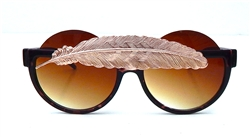 BIRDS OF PREY ROSE GOLD LITTLE FEATHER PEEKABOO GLASSES