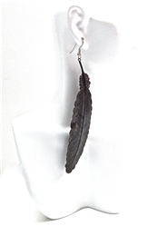 BIRDS OF PREY FEATHER EARRING