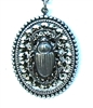 RANSOM SCARAB CHARM NECKLACE