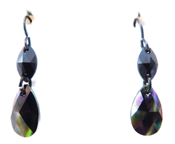 RARE FIND BLACK RAINBOW DROP EARRINGS