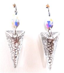 RARE FIND OPAL LONE WOLF PYRAMID EARRINGS