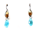 RARE FIND BRONZE TURQUOISE DROP EARRINGS
