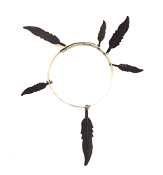THUNDERBIRD WILD WOLF FEATHER BANGLE