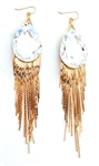 THUNDERBIRD MOONDUST GOLD FRINGE EARRINGS