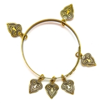 THUNDERBIRD GOLD MEHNDI BANGLE