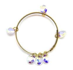 THUNDERBIRD OPAL DIAMOND CRYSTAL BANGLE