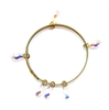 THUNDERBIRD OPAL CRYSTAL TEARS BANGLE
