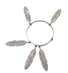 THUNDERBIRD COYOTE FEATHER BANGLE