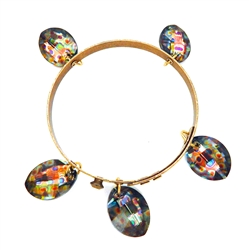 THUNDERBIRD GOLDEN LEOPARD BANGLE